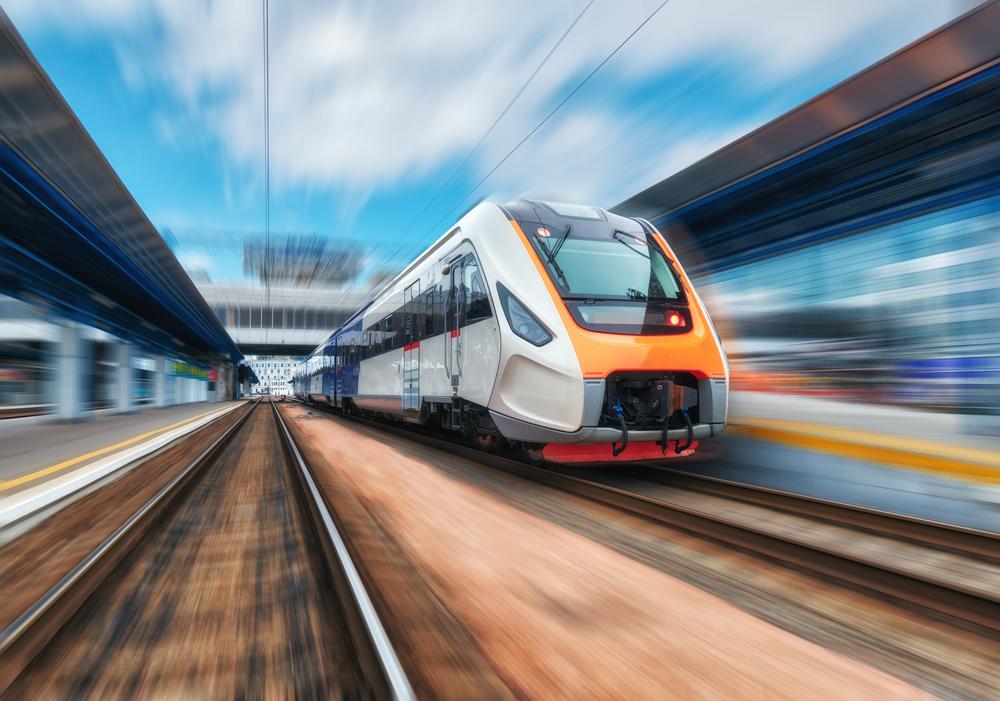 Snelrijdende trein