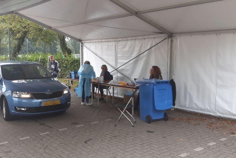 Teststraat corona op campus geopend