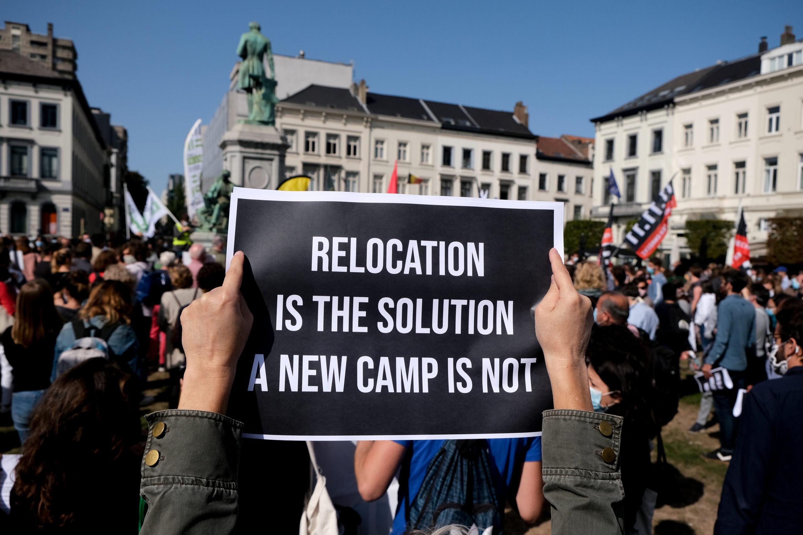 Studenten protesteren tegen vluchtelingenbeleid