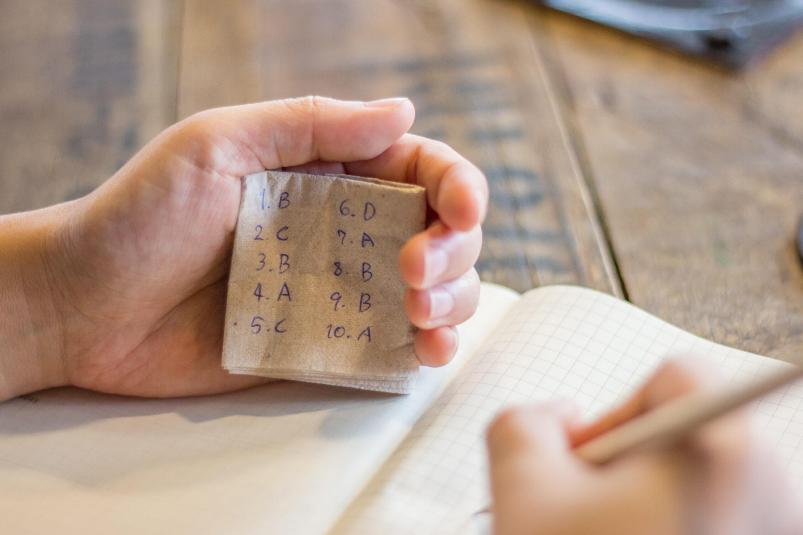 Ten cases of fraud in online exams