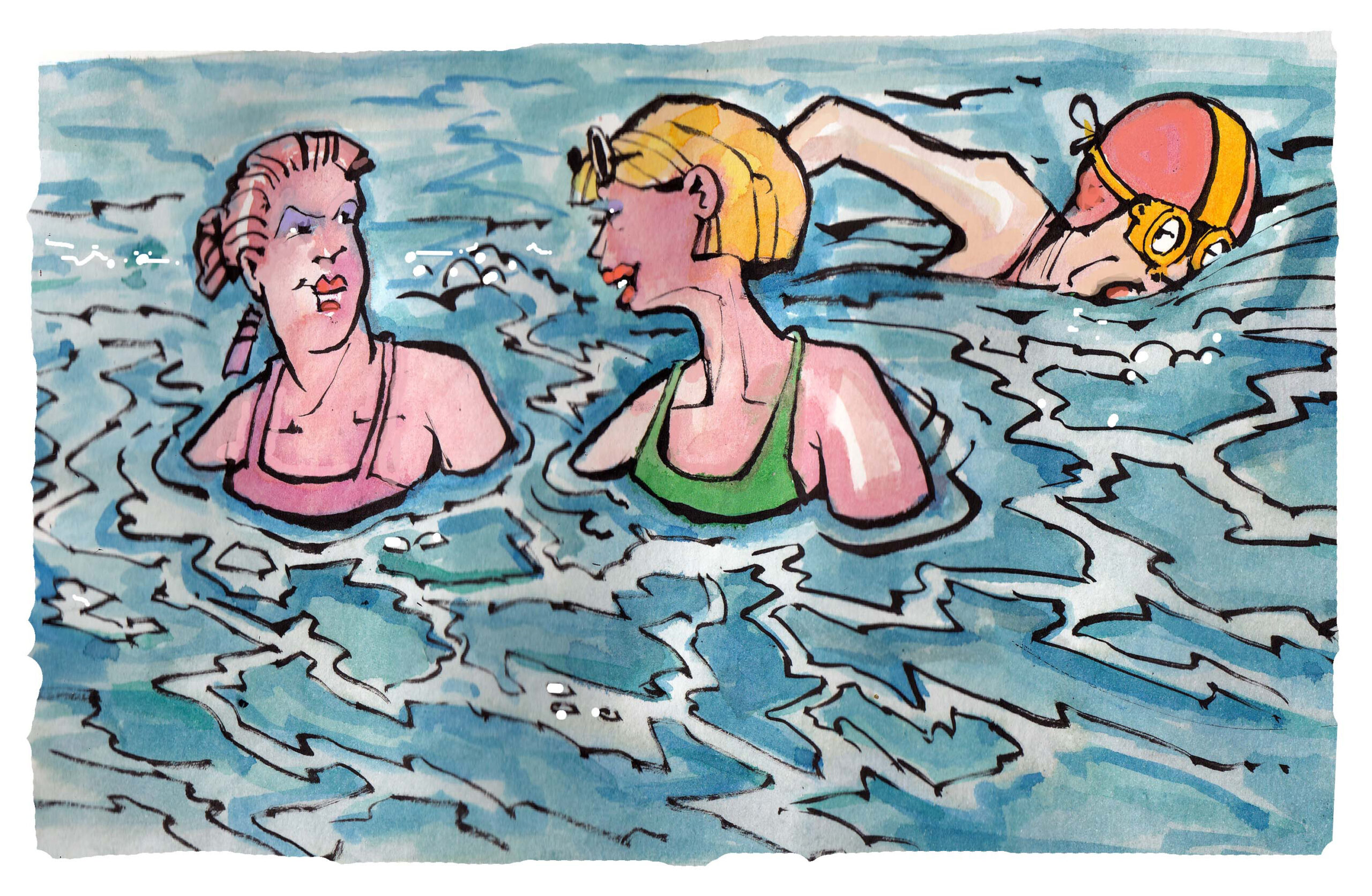 Typical (old-) Dutch – Chat while you swim