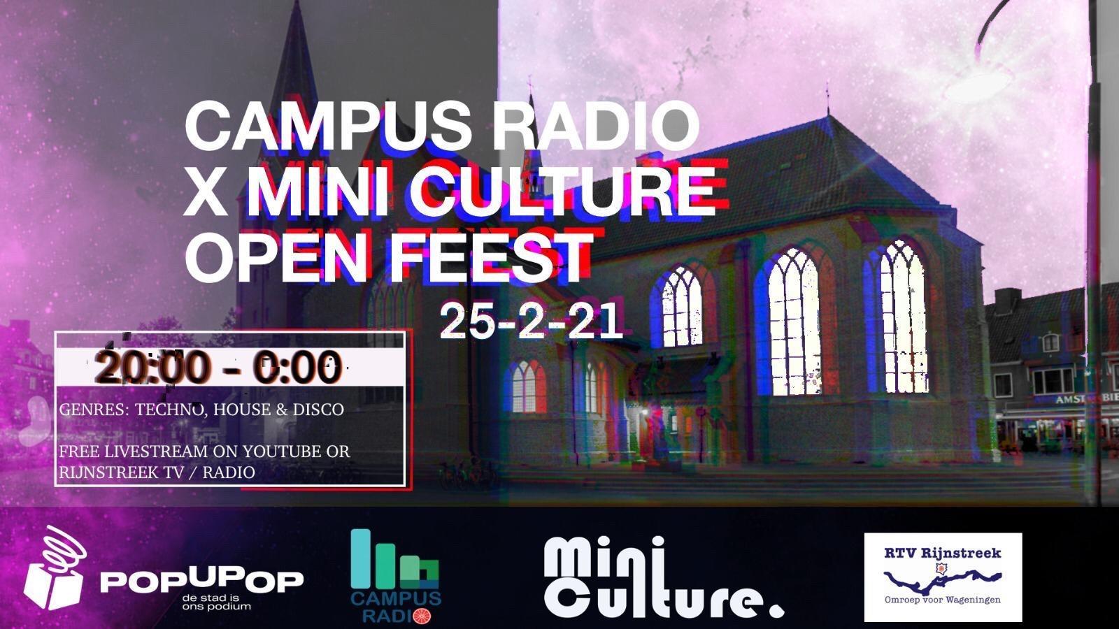Flyer Open Feest Mini Culture