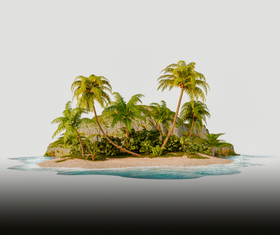 A picture of a tropicsl island