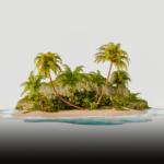 Illustratie van een tropisch eiland