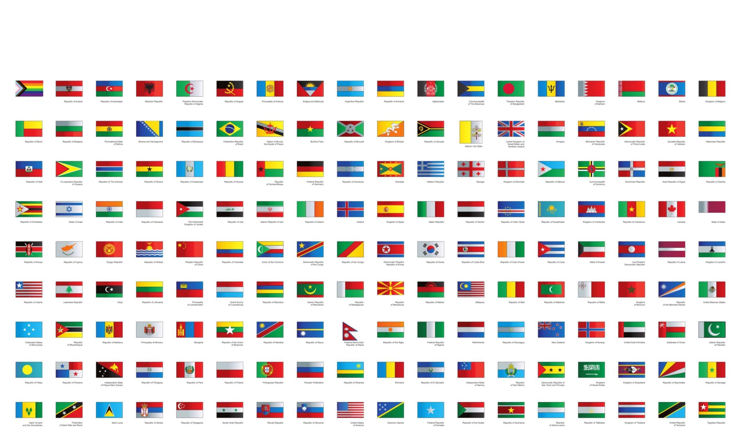 One World Week wereldvlaggen