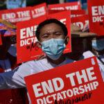 Protest in Myanmar