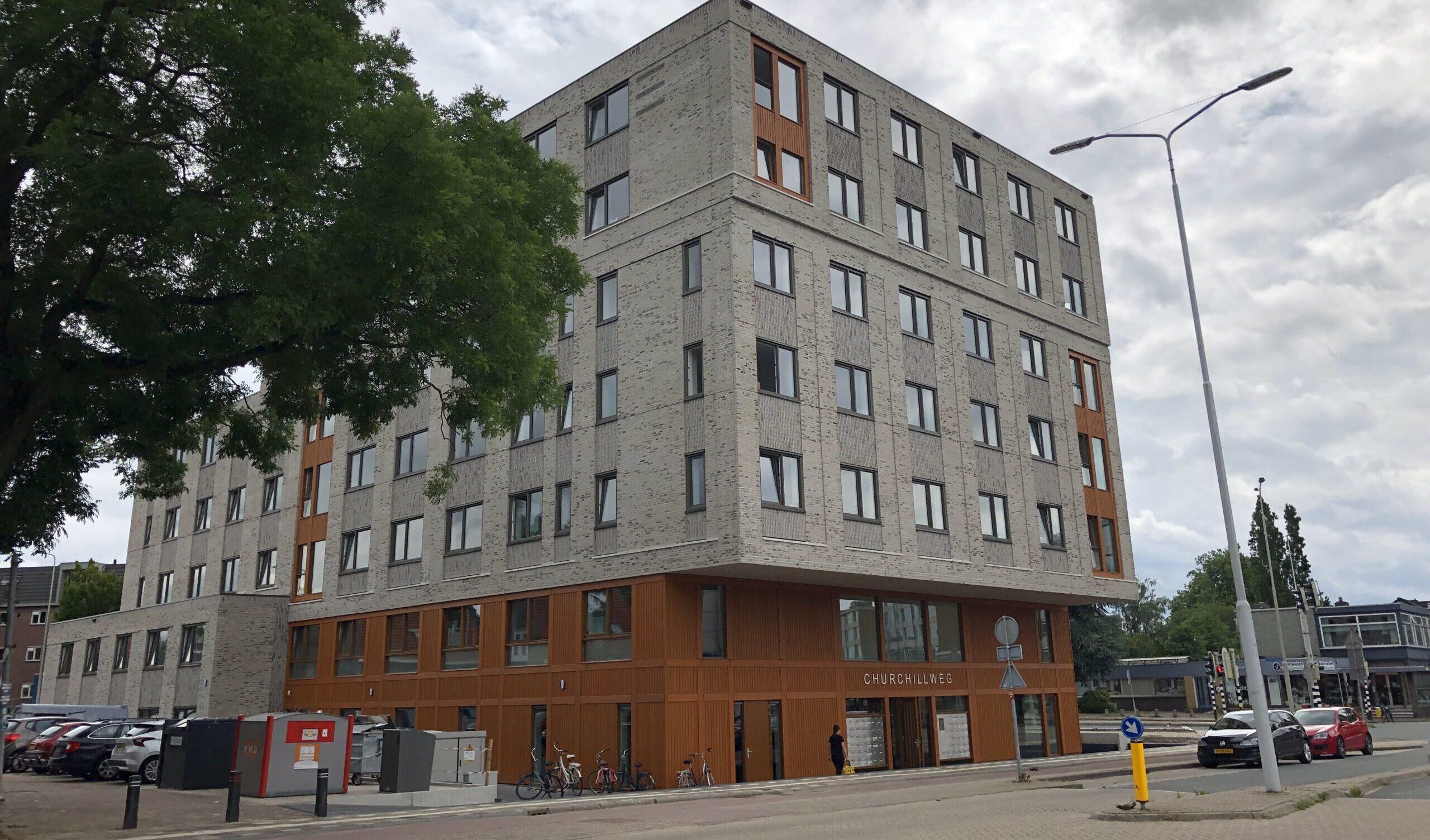 First residents in new building on Churchillweg