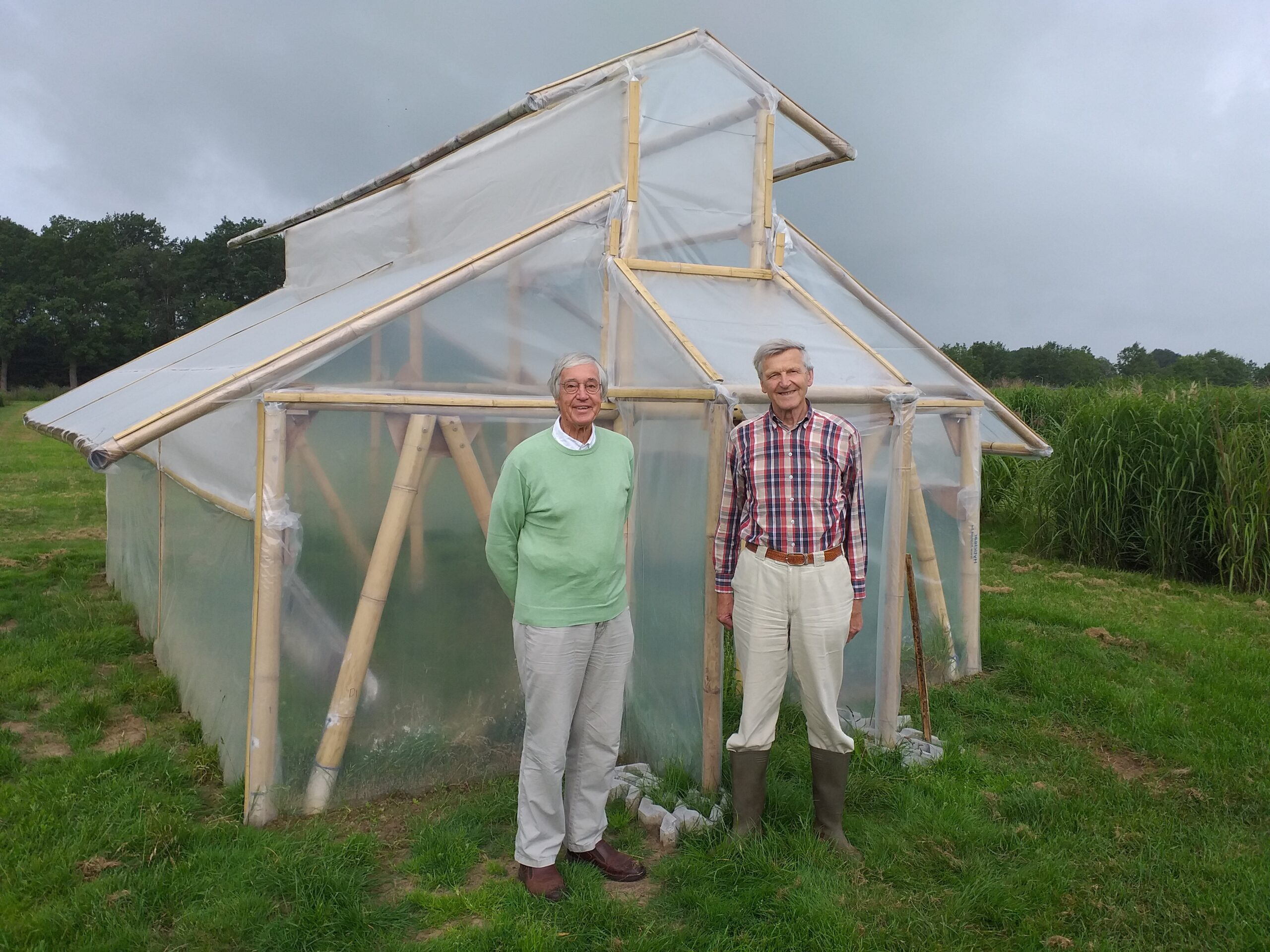 Retirees construct low-tech greenhouse for Nepal