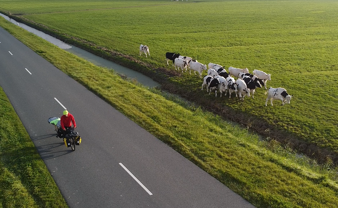 Cycling plastic collector briefly back in the Netherlands